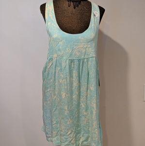Volcom Green Acid Wash Babydoll Dress  Size Large